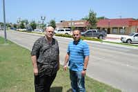 Steve Martin (left), president of the Duncanville Chamber of Commerce, and Daniel Flores, real estate agent and project manager at Options Real Estate, are part a group of residents working to revitalize Duncanville.(Staff photo by NANETTE LIGHT - neighborsgo)
