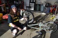 Ethan Krenz built this bike about a month ago. After completing the automotive technician program, he hopes to attend a four-year university and pursue a degree in information technology.Staff photo by NANETTE LIGHT - neighborsgo