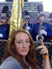 Daisy Tackett is shown at a University of Kansas football game, in a photo provided to the DMN by her family.