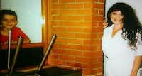 Routier's surviving son, Drake, visits her on death row around 2002. (Courtesy photo)