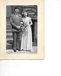 Dennis King married his late wife Doreen in September 1951.( Photos submitted by CAROLINE KING )