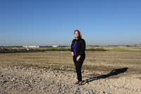 Keri Samford, The Colony's director of economic development, stands near the site of the Grandscape development, a 400-plus acre development off Highway 121 that seeks to attract retail, restaurant and other business. The country's largest furniture store, Nebraska Furniture Mart, will anchor the development.