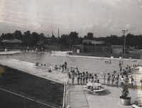 Don Showman Pool has been part of the Farmers Branch community for more than 50 years. This photo was taken around 1962, about four years after the pool first opened in June of 1958. Don Showman Pool opened for area residents in 1958.DMN file photo