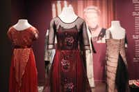 """Costumes from the hit British television drama """"Downton Abbey"""" at the Winterthur Museum in Wilmington, Del. The exhibit, which opens Saturday, March 1, and runs through January 2015, will offer visitors a firsthand look at the design and creation of the period fashions that are a focal point of the television show, in the context of comparing country house life in Britain and the United States.Suchat Pederson  -  AP"""