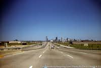 Driving into downtown Dallas in 1961