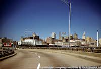 Coming into downtown Dallas off Stemmons in 1961