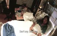n this frame grab taken from video provided by Texas Health Resources, Nina Pham is told not to cry at Texas Health Presbyterian Hospital in Dallas before being flown to the National Institutes of Health outside Washington. Pham's  treating physician can be heard thanking her for getting well and being part of the volunteer team that took care of the first patient.Dr. Gary Weinstein - Texas Health Resources