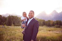 State Rep. Eric Johnson holds his son, William. (Courtesy Eric Johnson)
