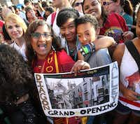 Fans gathered for the grand opening at the Wizarding World of Harry Potter expansion at Universal Studios.( Joe Burbank  -  Orlando Sentinel )