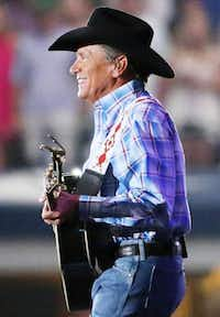George Strait played the last show of his final tour Saturday at AT&T Stadium in Arlington.Andy Jacobsohn  -  Staff Photographer