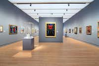 The more than 400 works on display are arranged chronologically. Shown is the 20th century gallery.