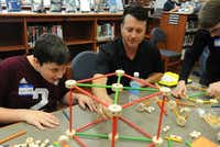 About 40 Wylie junior high school students participated in an Engineering Exploration Class last April to develop important engineering skills through fun activities while networking with working engineers. The event was part of the district's efforts to incorporate STEM early in students' educations.( Photo submitted by IAN HALPERIN 219,4,200  )