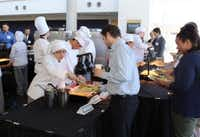 The celebration included a luncheon that was catered by Career and Technical Education culinary arts students and served by the program's hospitality students. (Irving ISD)