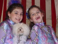 Lily Monday and Gitana Doyle, with Lily's dog Gypsy, will perform Dec. 22, in Slappy's Holiday Circus at Dallas Galleria.