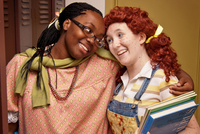 Creative Arts Theatre & School will perform Freckleface Strawberry the Musical at Lamar High School April 26 through 28. From left: Alyssa Peters as Emily and Sara Jackson as Strawberry.