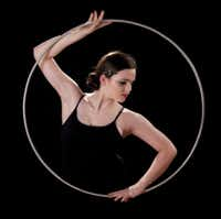 Hula Hoop artist Jesse Patterson, 15, of Dallas, makes her professional debut at Cirque Banquiste at the Rosewood Center for Family Arts Dec. 27-Jan. 1.