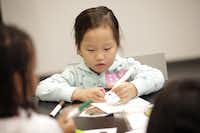 On Valentine's day, kids accompanied by an adult can participate in heart health and Valentine's activities at the early childhood program Art Lab inside the Perot Museum of Nature and Science.