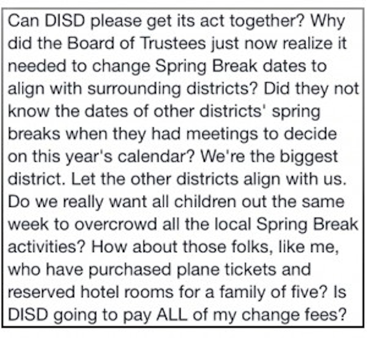 Months After Approving 2014 15 School Calendar Dallas Isd Changes