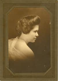 This portrait of Maude Dodson, wife of Farmers BranchÕs first mayor, Bill Dodson, was taken in the 1920s.
