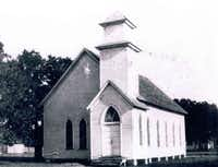 The book also highlights area churches and civic organizations. Webb Chapel United Methodist Church, founded in 1844 in the home of Isaac B. Webb, met in this structure, built in 1887, for 58 years before moving to its present location on Valley View Lane.