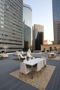The rooftop patio at the 400 North Ervay apartment complex, for the June/July 2012 issue of FD Luxe. (George Fiala/Special Contributor)