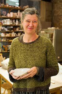 Paris potter Sylvie Pidancet-Bouquet in her studio