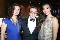 (L to R) Svetlana Grujic, Javi Burkle, and Alexa Moraif at Fashion's Night Out at Highland Park Village with FD Luxe on Thursday, September 6, 2012.(Mei-Chun Jau)