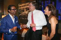(L to R) Ed Shaikh, Mark Knowles, and Melinda Knowles at Fashion's Night Out at Highland Park Village with FD Luxe on Thursday, September 6, 2012.(Mei-Chun Jau)