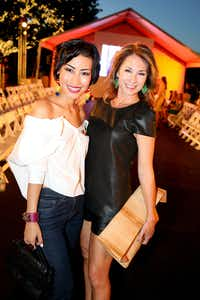 Nini Nguyen and Sheryl Maas at Fashion's Night Out at Highland Park Village with FD Luxe on Thursday, September 6, 2012.  Photography by Mei-Chun Jau for FD Luxe.(Mei-Chun Jau)