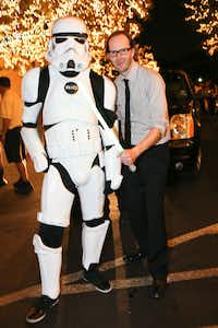 Rio Room's stormtrooper and Christopher Wynn at Fashion's Night Out at Highland Park Village with FD Luxe on Thursday, September 6, 2012.  Photography by Mei-Chun Jau for FD Luxe.(Mei-Chun Jau)