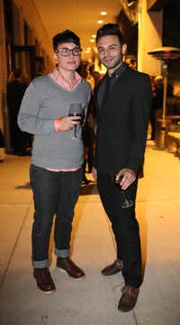 C.C. Doughtie and Jareb Parker at the 2011 Kim Dawson Video Festival and Model Search Reveal after-party on Nov. 2, 2011.