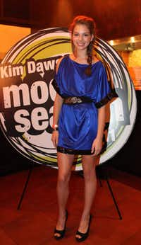 Winner Becca Sabol at the 2011 Kim Dawson Video Festival and Model Search Reveal after-party on Nov. 2, 2011.