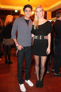 Thomas Vollmar and Makayla Harmon at the 2011 Kim Dawson Video Festival and Model Search Reveal after-party on Nov. 2, 2011.