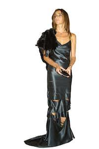 ORG XMIT:  (Shot Monday, 6-3-2002) NEW YORK - Council of Fashion Designers of America (CFDA) awards ceremony - New York Public Library / Paris VOGUE editor Carine Roitfeld