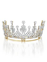 Antique diamond tiara, gift from Mike Todd. $351,000