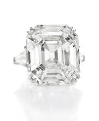 The Elizabeth Taylor diamond ring, 33.19 carats. $8,818,500