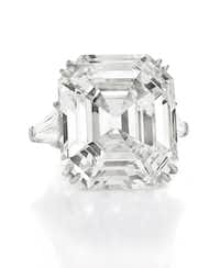 The Elizabeth Taylor diamond ring, 33.19 carats. $8,818,500
