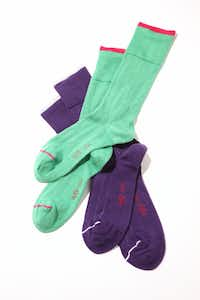 colored socks by Ugly Vix, $28, Forty Five Ten