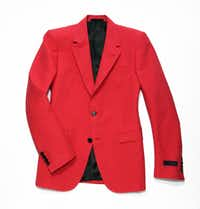 red Lanvin jacket, $2,825, Forty Five Ten