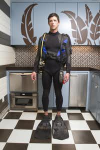 Custom- made Rip Curl wetsuit, Scubapro flippers, U.S. Diver mask and snorkel, all photographer Steve Wrubel's own(Steve Wrubel)
