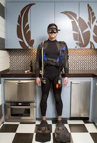 Custom- made Rip Curl wetsuit, Scubapro flippers, U.S. Diver mask and snorkel, all photographer Steve Wrubel's ownSteve Wrubel