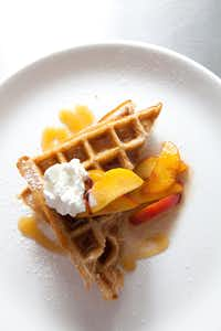 Waffles at the Rosemont restaurant.