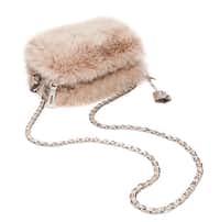 Prada dyed fox pochette with snakeskin, $1,995, Neiman Marcus