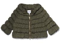 Moschino down-filled nylon puffa jacket, $795, Gregory's