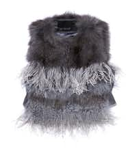 Yigal Arouzël fox fur and feather vest, $1,980, Forty Five Ten