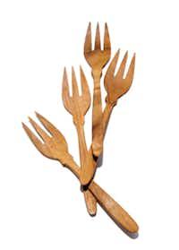 Teak forks, $18 set of four, Anthropologie