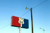 Sign on Amarillo Boulevard - the old Route 66 - in Amarillo.  Photographed  on May 3, 2012.