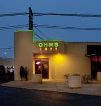 OHMS Cafe & Bar. Located at 619 South Tyler Street Amarillo, TX 79101 (806) 373-3233.  Photographed  on May 3, 2012.