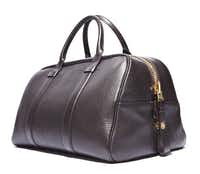 Bowled over: Tom Ford brown leather bowling bag, $3,440, Neiman Marcus