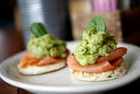 Avocado and smoked salmon stacks at Oddfellows (316 W. Seventh St., Dallas, 214-944-5958, oddfellowsdallas.com). Breakfast/brunch served weekdays 6:30 a.m. to 2 p.m., weekends 7 a.m. to 2 p.m.